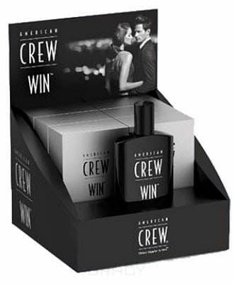 American Crew, Туалетная вода для мужчин Win Fragrance Display (Коробка-дисплей 6 шт по 100 мл + 1 тестер 100 мл)