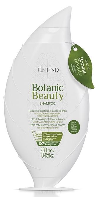 Купить Amend, Органический шампунь для волос с экстрактом жасмина и маслом моринги Botanic Beauty Moringa Oil & Jasmine Extract Shampoo, 250 мл