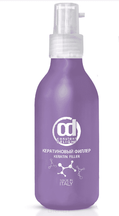 Кератиновый филлер, 150 млКератиновый филлер — это интенсивное восстановление поврежденных волос на клеточном уровне. Наполняет волосы недостающим белком и восстанавливает гидробаланс сухих, тонких и хрупких волос. Уплотняет осветленные и обесцвеченные волосы для придания мягкости и эластичности. Волосы становятся более сильными, шелковистыми и устойчивыми к внешним негативным факторам (погодные условия и технические процедуры).&#13;<br>&#13;<br> &#13;<br>&#13;<br>&#13;<br>Применение:&#13;<br>&#13;<br>&#13;<br>Небольшое количество продукта нанести на вымытые, подсушенные полотенцем волосы, оставить для воздействия на 3-5 минут, затем смыть. Возможно использование дополнительного тепла. Приступить к укладке волос.<br>
