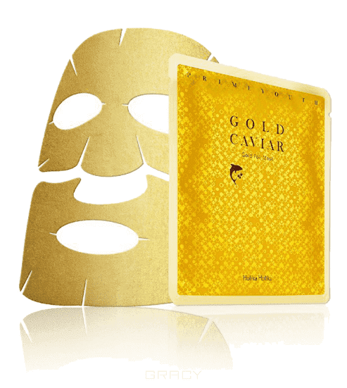 Prime Youth Gold Caviar Gold Foil Mask Антивозрастная тканевая маска с золотом, 25 мл Холика Холика retinol интенсивная антивозрастная тканевая маска интенсивная антивозрастная тканевая маска
