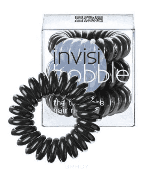 Invisibobble, Резинка для волос ORIGINAL True Black черный в упаковке с подвесом, 3 шт invisibobble резинка для волос original true black 3 шт черная