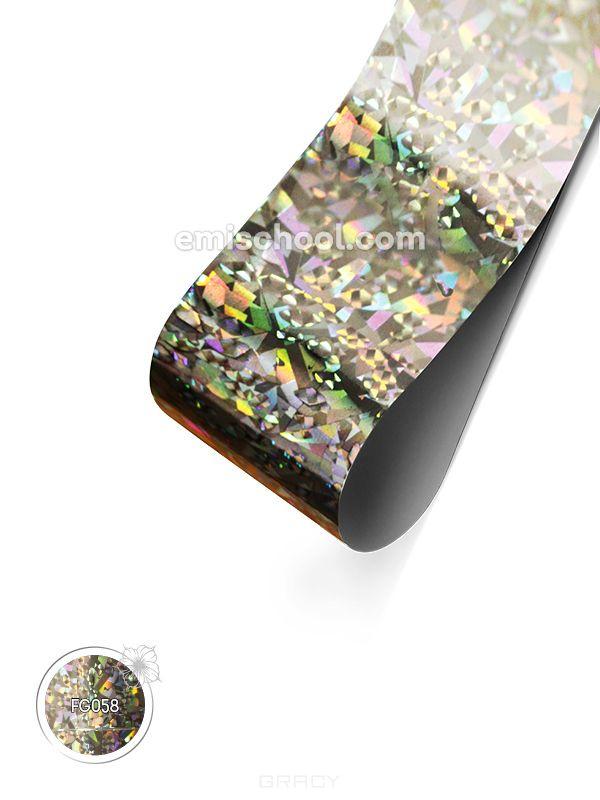 Купить E.Mi, Фольга Серебряная голографика №9 Мелкие кристаллы 1, 5 м