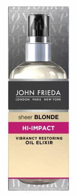 Масло-эликсир для восстановления сильно поврежденных волос Sheer Blonde Hi-Impact, 100 млВосстанавливает и оживляет поврежденные волосы. &#13;<br>&#13;<br> Возвращает блеск и яркость светлым поврежденным, тусклым волосам. &#13;<br>&#13;<br> Заметно восстанавливает поврежденную структуру волос, возрождая к жизни сухие пряди светлых волос. &#13;<br>&#13;<br>  &#13;<br>  &#13;<br> Применение: &#13;<br>&#13;<br> Достаточно растереть 1 каплю масла в руках и равномерно распределить по всей длине мокрых или влажных волос. Чтобы приручить непослушные волосы и добавить им блеск нанесите несколько капель масла на сухие волосы, избегая попадания на корни. Для наилучшего восстановления используйте вместе со средствами серии Sheer Blonde HI-IMPACT.<br>