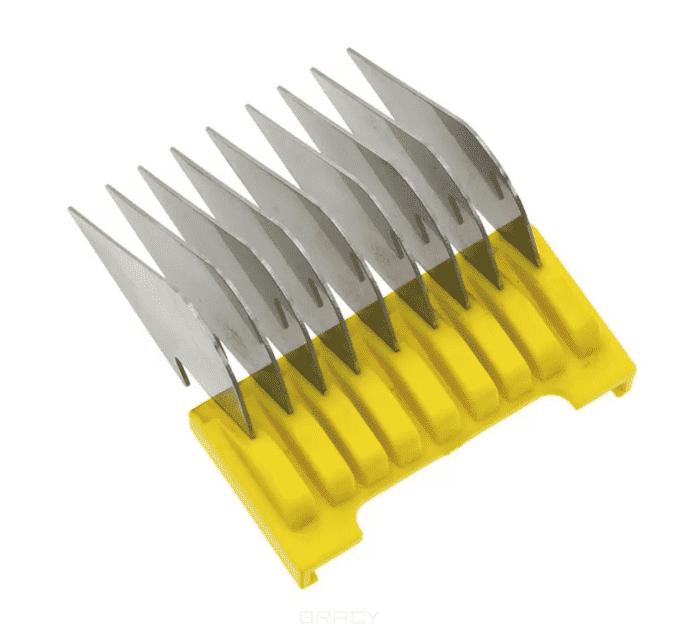 Moser, Насадка металлическая на машинку 1230,1400,1853-1871,1881,1854, (8 размеров) 16 мм желтая