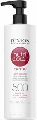 Revlon, Крем-краска для волос 3 в 1 Nutri Color Creme, (52 оттенка) 500 Пурпурно красный revlon крем краска для волос 3 в 1 nutri color creme 52 оттенка 500 пурпурно красный