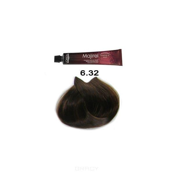 LOreal Professionnel, Крем-краска Мажирель Majirel, 50 мл (88 оттенков) 6.32 тёмный блондин золотисто-перламутровыйОкрашивание: Majirel, Luo Color, Cool Cover, Dia Light, Dia Richesse, INOA и др.<br><br>