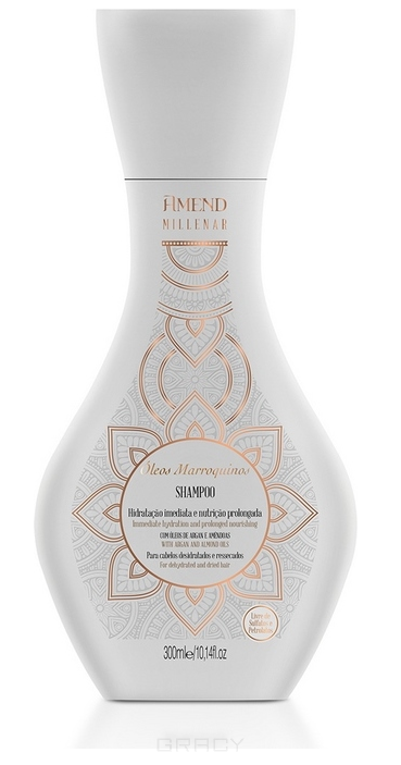 Купить Amend, Увлажняющий шампунь для сухих волос с марокканскими маслами Millenar Oleos Marroquinos Shampoo, 300 мл