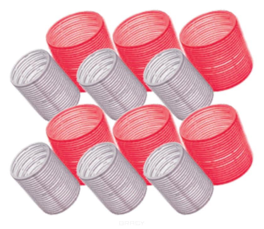 Бигуди для волос красные Big Velcro Roller 65 мм, 6 шт/уп urban tribe kit thermo hair curlers бигуди для укладки волос 6 шт