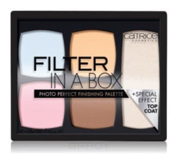 Catrice, Палетка для макияжа лица Filter In A Box Photo Perfect Finishing Palette catrice палетка для макияжа бровей тени воск brow palette matt