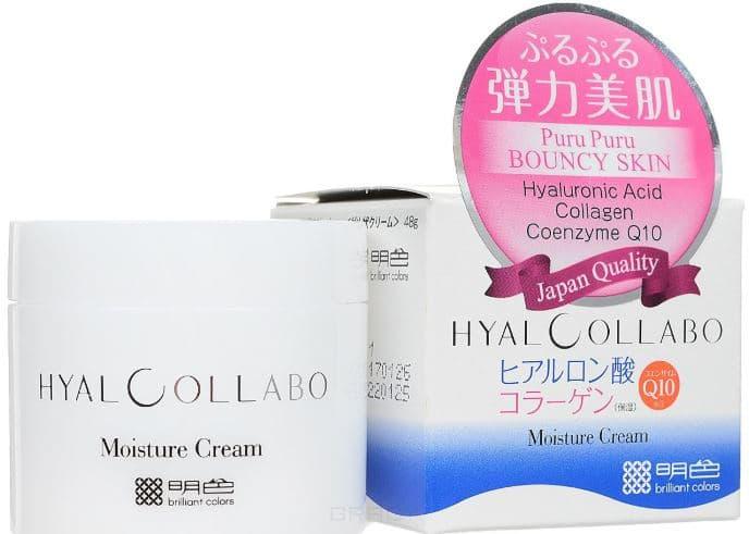 Meishoku, Глубокоувлажняющий крем (с наноколлагеном и наногиалуроновой кислотой) Hyalcollabo Cream, 48 гр meishoku глубокоувлажняющая эссенция с наноколлагеном и наногиалуроновой кислотой 30 мл