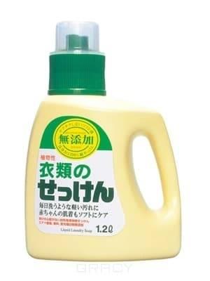 Laundry Liquid Soap Жидкое средство для стирки основе натуральных компонентов (для изделий из хлопка) Additive Free (For Cotton), 1200 мл
