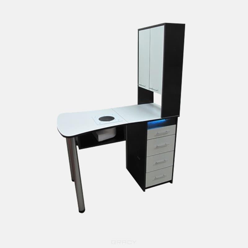 Мебель салона, Стол маникюрный раскладной Пирс (21 цвет)