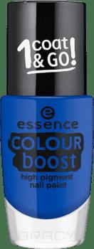 Лак для ногтей Colour Boost High Pigment Nail Paint, 9 млОписание:&#13;<br> &#13;<br> Создай по-настоящему летний маникюр с новыми высокопигментированными лаками essence! На выбор предлагается десять актуальных оттенков: от трендовых пастельных до сочных и ярких. Насыщенная формула лаков обеспечит плотное покрытие и порадует сияющим глянцевым финишем уже с первого слоя!&#13;<br> &#13;<br> Состав:&#13;<br> &#13;<br> Butyl Acetate, Ethyl Acetate, Nitrocellulose, Acetyl Tributyl Citrate, Isopropyl Alcohol, Adipic Acid/neopentyl Glycol/trimellitic Anhydride Copolymer, Styrene/acrylates Copolymer, Stearalkonium Bentonite, Acrylates Copolymer, Diacetone Alcohol, Silica, N-butyl Alcohol, Hexanal, Benzophenone-1, Phosphoric Acid, Ci 19140 (yellow 5 Lake), Ci 77491 (iron Oxides), Ci 77499 (iron Oxides), Ci 77891 (titanium Dioxide).<br>