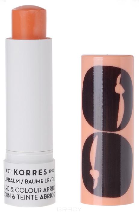 Korres, Бальзам-стик для губ уход и цвет Абрикос, 5 мл коррес бальзамстик для губ с экстрактом мандарина бесцветный spf 15 5 мл korres korres уход за губами