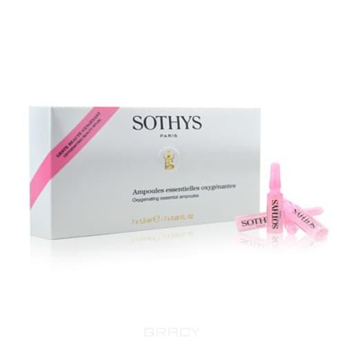Купить Sothys, Ампульный концентрат с кислородонасыщающим и ревитализирующим действием Oxygenating Essential Ampoules 7 х 1, 5 мл