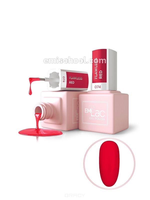 Купить E.Mi, Гель-лак для ногтей, E.MiLac №074 DV Безупречный красный
