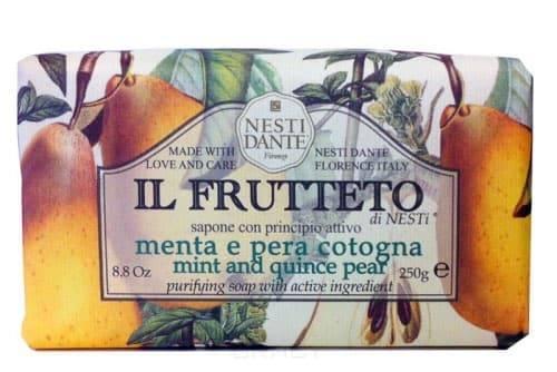 Nesti Dante, Мыло Мята и айвовая груша IL Frutteto, 250 грGreenism - эко-серия для ухода<br><br>