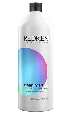 Redken, Очищающий крем для окрашенных волос Hair Cleansing Cream Clean Maniac, 1 л redken мицеллярный шампунь глубокое очищение волос и кожи головы clean maniac micellar 1 л