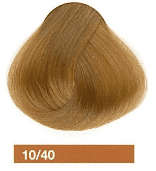 Lakme, Перманентная крем-краска Collage, 60 мл (99 оттенков) 10/40 Очень светлый блондин медный