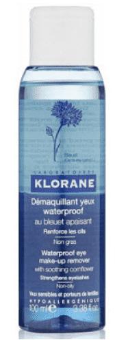 Klorane, Двухфазный лосьон для снятия водостойкого макияжа с глаз, 100 мл