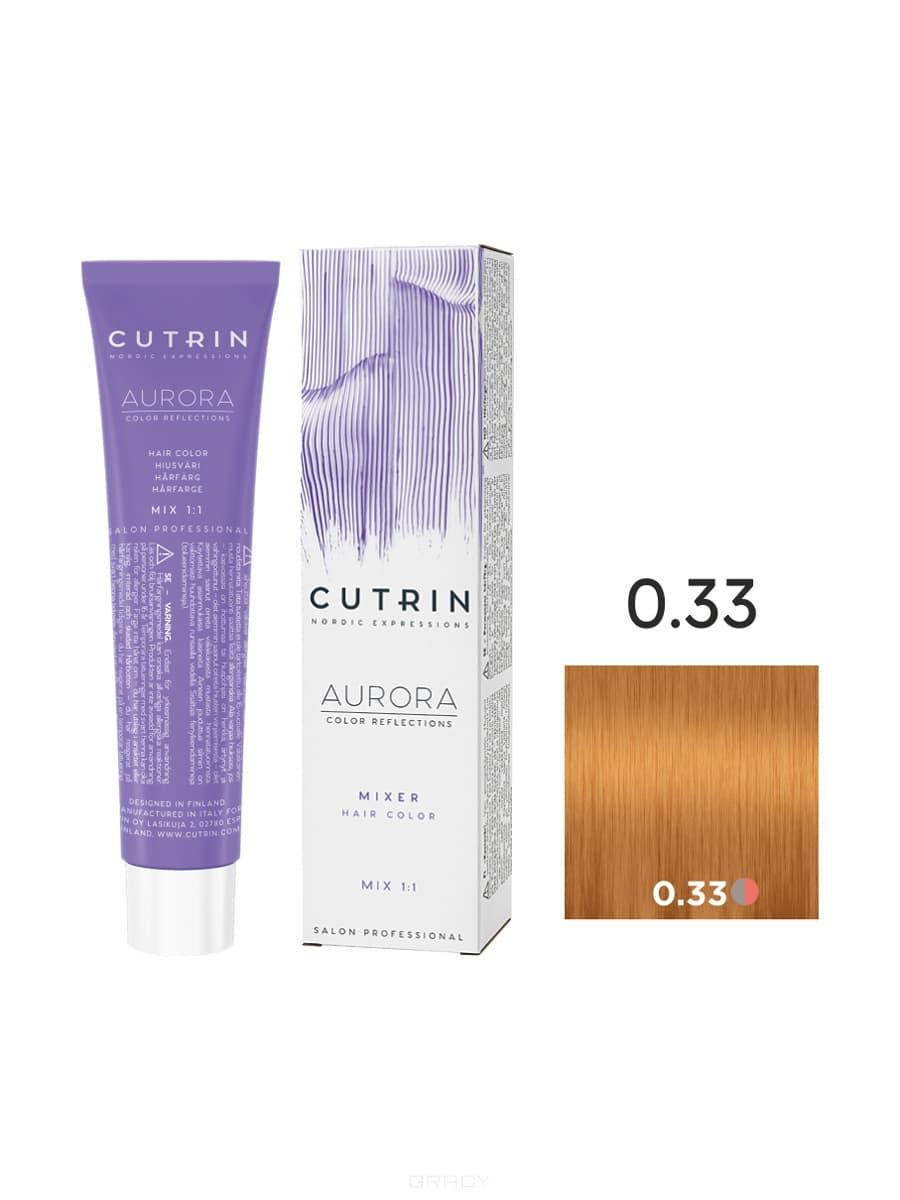 Cutrin, Кутрин краска для волос Aurora Аврора (SCC-Reflection) (палитра 97 оттенков), 60 мл 0.33 Золотой микс-тон недорого