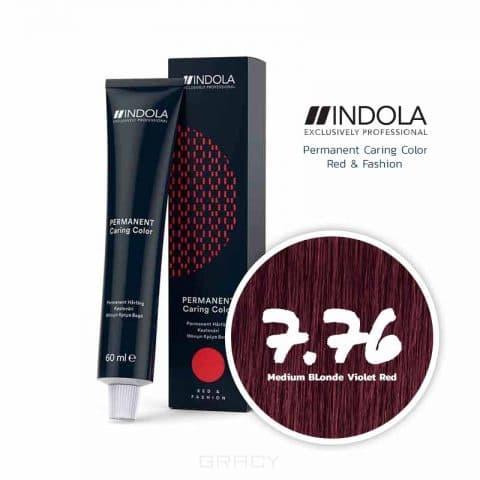 Indola, Стойкая крем-краска для волос Profession, 60 мл (новый и старый дизайн, 141 оттенок) 7.76 средний русый фиолетовый красный