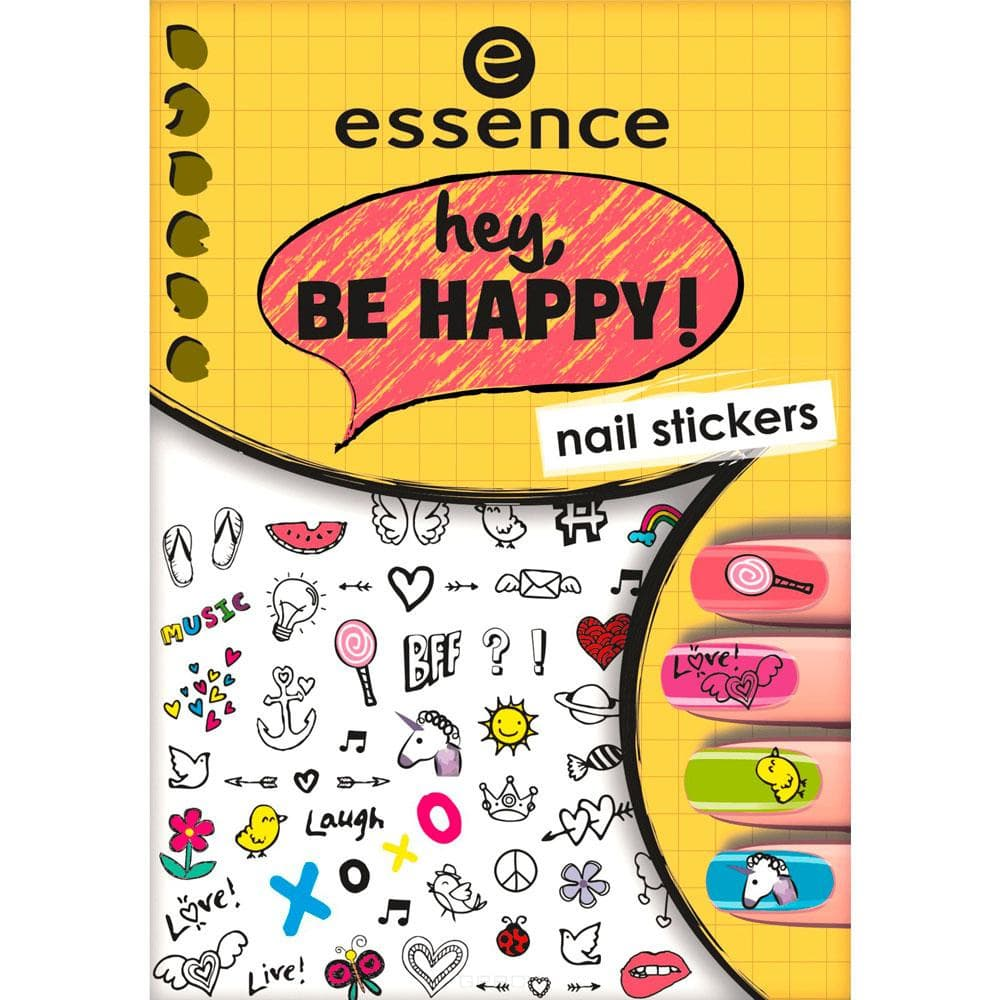 Наклейки для ногтей Hey, Be Happy! Nail Stickers cute nail art stickers black 5 pack