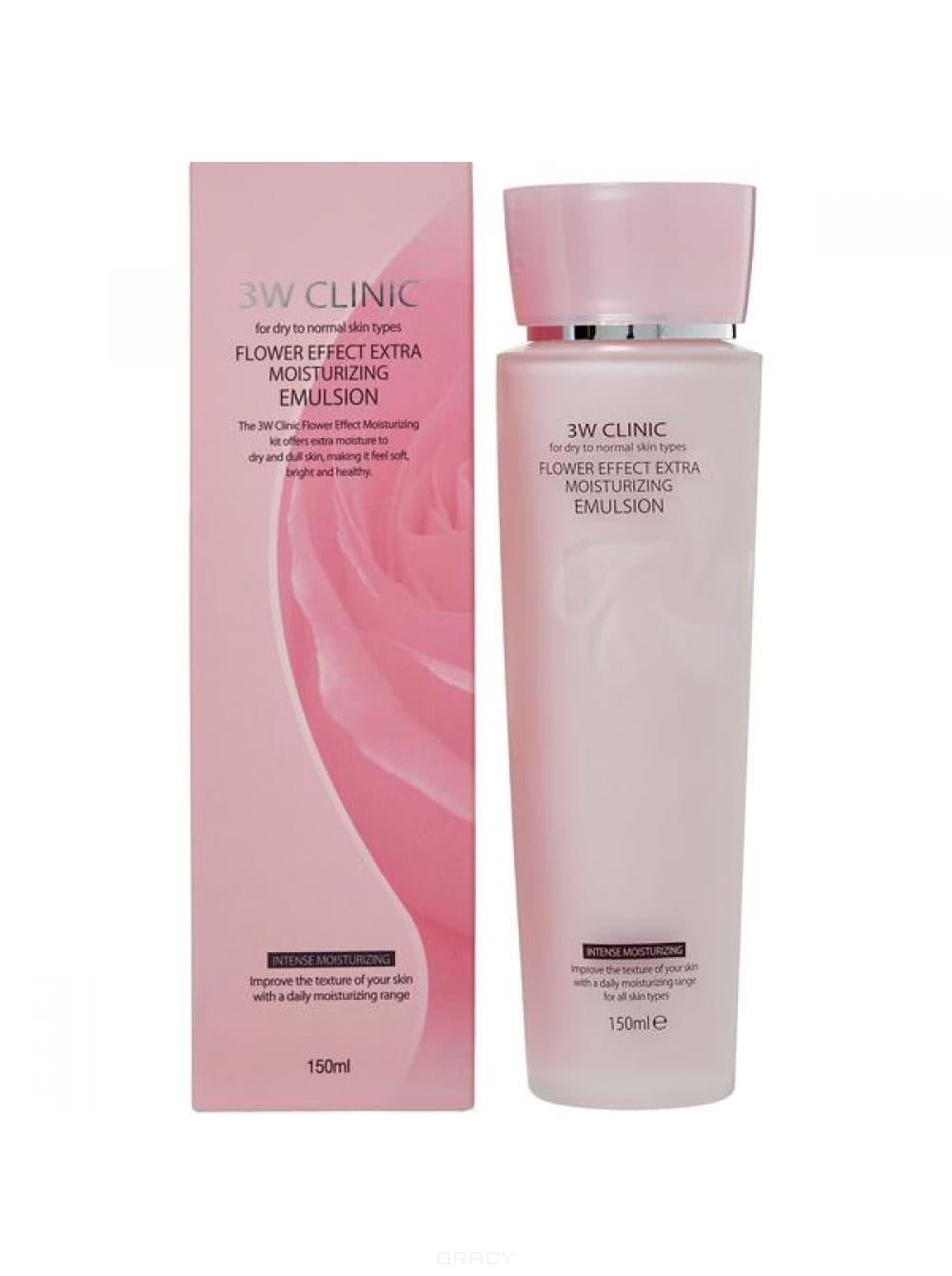 Купить 3W Clinic, Эмульсия для лица экстра-увлажнение Flower Effect Extra Moisturizing Emulsion, 150 мл