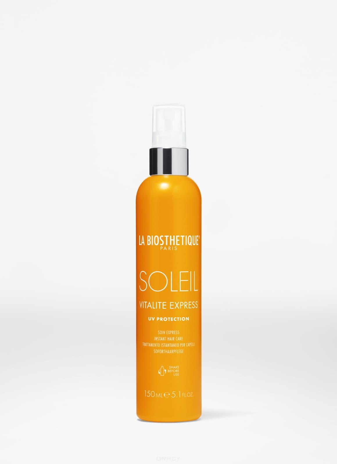 Спрей-кондиционер с водостойким УФ-фильтром, восстанавливающий структуру волос Methode Soleil Vitalite Express Soleil, 150 мл восстанавливающий кремкондиционер с уфзащитой для поврежденных солнцем волос 125 мл labiosthetique methode soleil