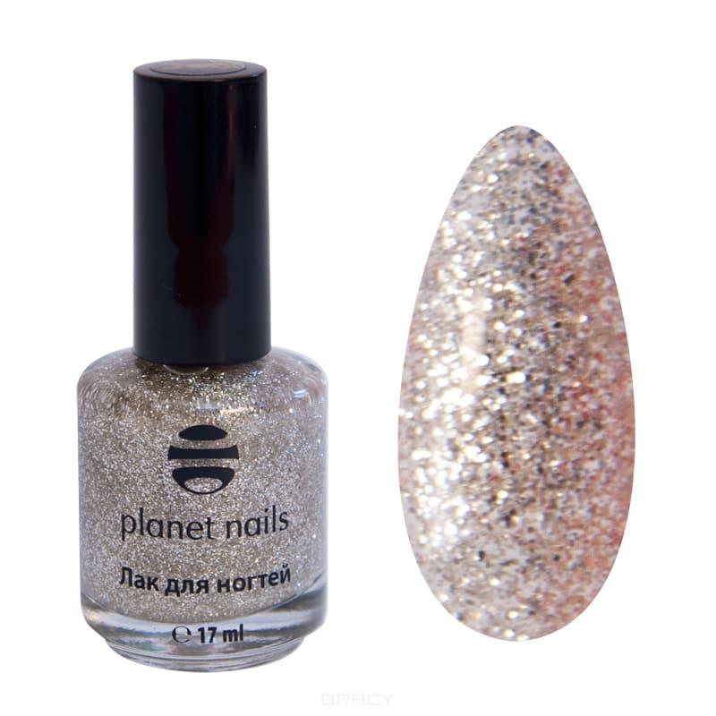 Planet Nails, Глиттер лак для ногтей, 17 мл (21 оттенок) 730