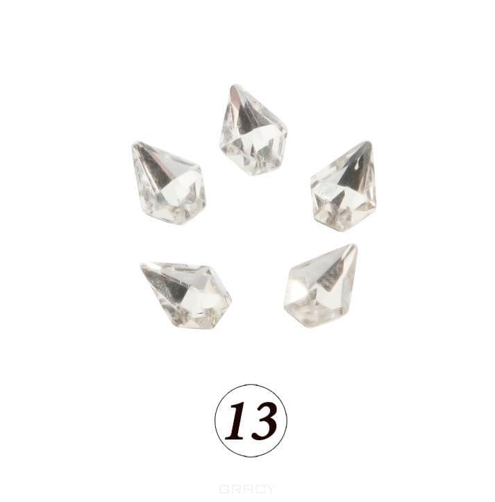 Купить Planet Nails, Цветные фигурные стразы в ассортименте (76 видов), 5 шт/уп Планет Нейлс №13