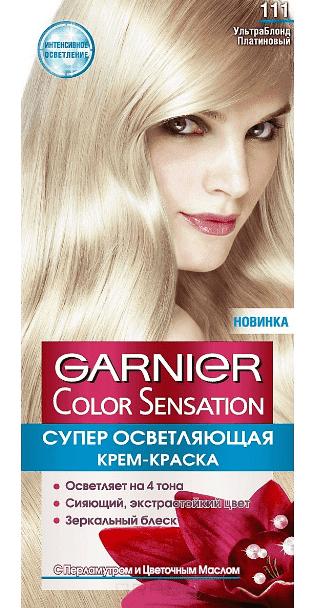 Garnier, Краска дл волос Color Sensation, 110 мл (25 оттенков) 111 Платиновый блондОкрашивание волос Гарньер<br><br>