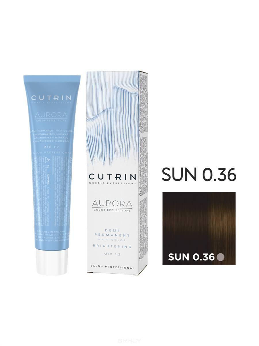 Cutrin, Безаммиачная краска Aurora Demi (Новый дизайн Reflection Demi), 60 мл (55 оттенков) SUN 0.36 Яркое солнце цена и фото