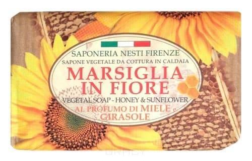 Мыло Мед и подсолнух Marsiglia in Fiore, 125 грРоскошное натуральное растительное мыло линии Цветущий Марсель от Nesti Dante содержит мед и масло подсолнечника, мягко очищает кожу рук, прекрасно пенится и не сушит кожу&#13;<br>Не содержит в своем составе щелочи, не сушит и не раздражает кожу, хорошо пенится.<br>
