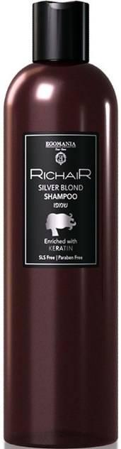 Купить Egomania, Оттеночный шампунь для платиновых оттенков блонд с кератином Richair, 400 мл