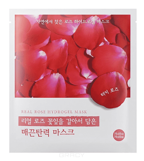 Holika Holika, Гидрогелевая маска Силы природы - красная роза Found From Nature Rose Hydrogel Mask, 32 г гидрогелевая маска holika holika prime youth black snail repair hydro gel mask объем 25 мл