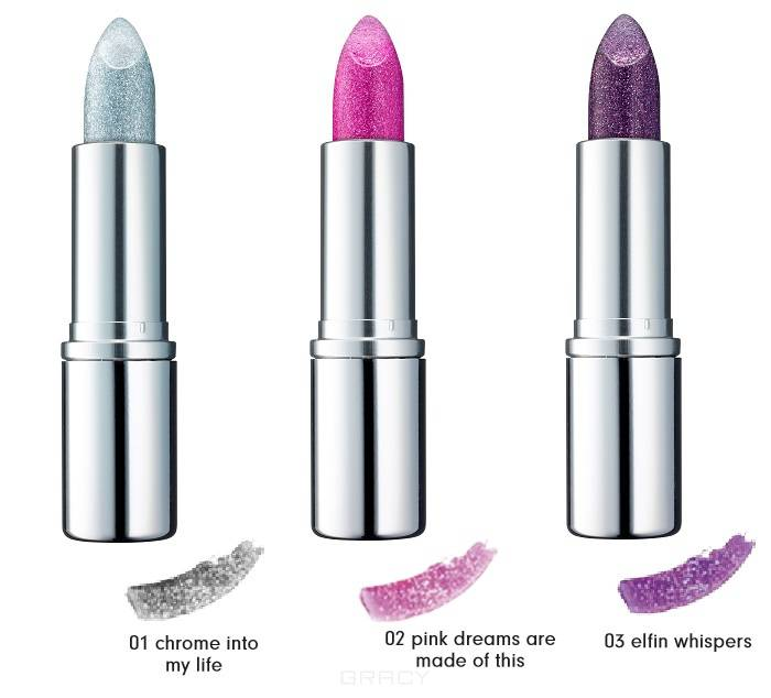 Essence, Губная помада Step Into Magic Wonderland Pure Glitter Lipstick, №02 Pink Dreams Are Made Of This