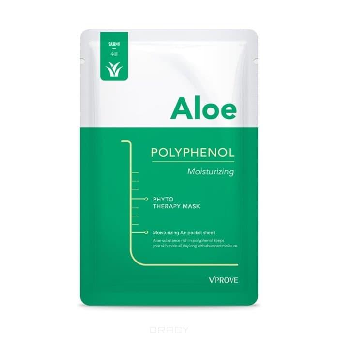 Vprove, Phyto Therapy Mask Тканевая маска с алоэ, противовоспалительная Sheet Aloe Polyphenol Moisturizing