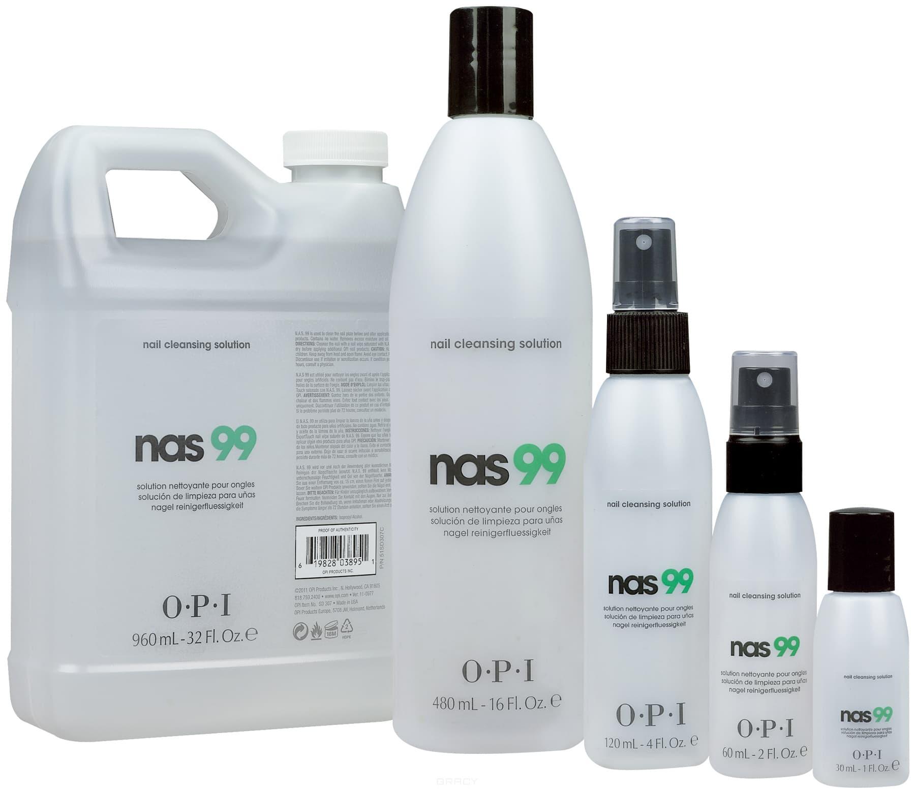 OPI, Дезинфицирующая жидкость для ногтей Nas-99, 110 мл opi дезинфицирующая жидкость для ногтей nas 99 110 мл