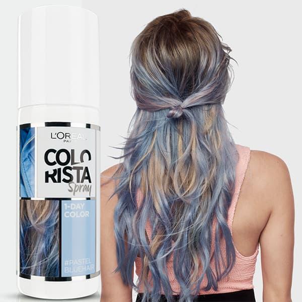 Купить L'Oreal, Краска спрей в баллончиках на 1 день Colorista Spray 1-Day, 75 мл (7 оттенков) 2 голубой