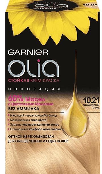Garnier, Краска для волос Olia, 160 мл (24 оттенка) 10.21 Перламутровый блондинОкрашивание<br><br>