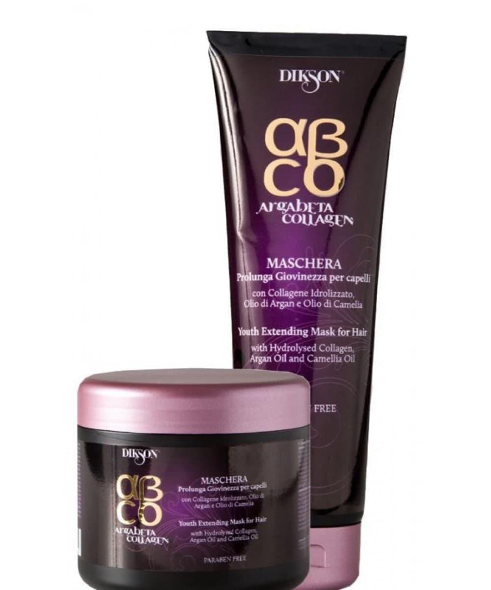 Dikson, Восстанавливающая маска для волос с маслом арганы и коллагеном Продление молодости ArgaBeta Collagen, 500 млМаски<br><br>