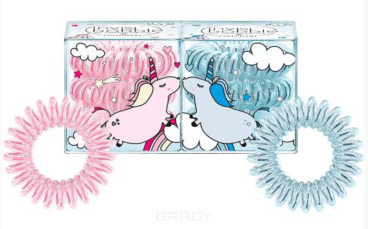 Invisibobble, Набор резинок для волос ORIGINAL Duo Unicorn Elly&Henry (2x3 шт) набор средних резинок браслетов для волос invisibobble original blush hour