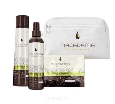 Купить Macadamia Natural Oil, Набор для тонких волос M7071 (в белой косметичке) Weightless Moisture Beauty Bag, 300/30/236 мл