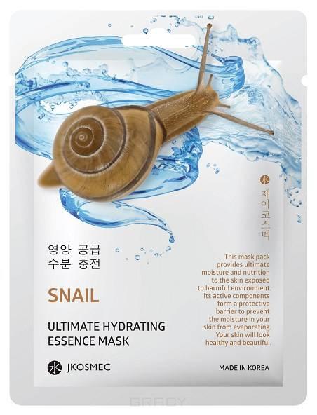 Jkosmec, Ежедневная увлажняющая маска с муцином улитки Snail Ultimate Hydrating Essence Mask, 25 мл  - Купить