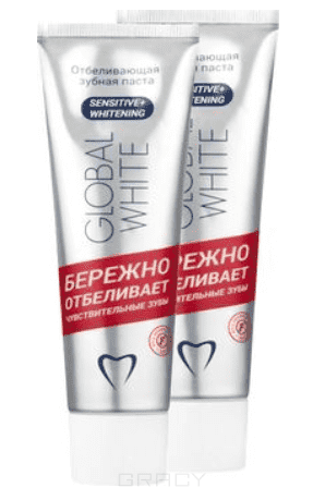 Global White, Набор зубная паста Ферментативная, 2 х 100 мл зубная паста отбеливающая global white 100 мл