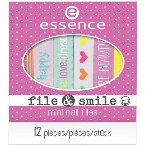 Essence, Пилочка для ногтей File & Smile Mini Nail Files essence пилочка для ногтей металлическая sapphire file