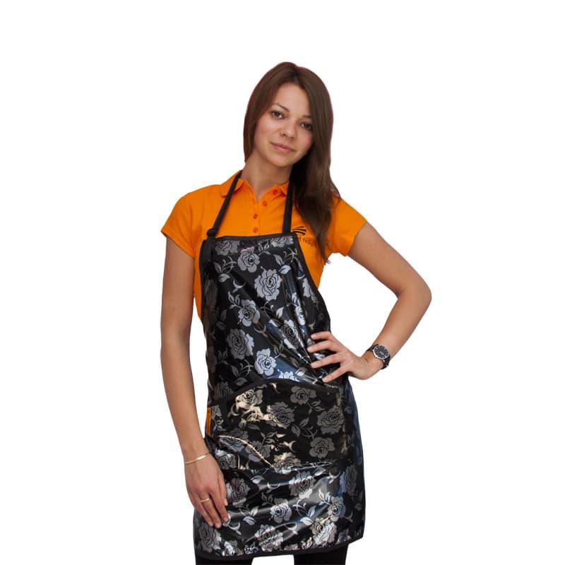 Фартук мастера Rose Black 60х73 смВес для почты: 105&#13;<br>Размер: 60х73 см<br>