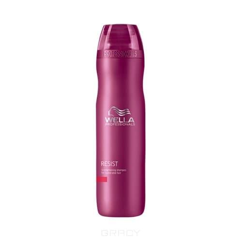 Age Line Укрепляющий шампунь для ослабленных волосДействие.С возрастом волосы истончаются, выглядят уставшими и лишенными жизненной силы. Восстановиться им поможет укрепляющий шампунь антивозрастной линии от Wella. В состав средства включен регенерирующий комплекс с ройбушем и кератином. Действуя совместно, эти компоненты стимулируют естественную способность волос к восстановлению.&#13;<br>  &#13;<br>&#13;<br>  &#13;<br>Результат.Укрепляющий шампунь предотвращает выпадение волос, придает им здоровый блеск. Волосы наполнены жизненной энергией и силой.&#13;<br>  &#13;<br>&#13;<br>  &#13;<br>Состав.Фитокомплекс на основе кератина и ройбуша.&#13;<br>  &#13;<br>&#13;<br>  &#13;<br>Способ применения.Небольшое количество шампуня нанесьти на влажные волосы. Вспенить и массировать в течение 2 -5 минут. Смыть теплой водой. Лучший результат достигается при использовании вместе с другими продуктами Lifetex Resist.<br>
