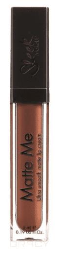 Sleek MakeUp, Блеск для губ Matte Me (7 тонов) Roasted Almond 1161 fashion women travel kit jewelry organizer makeup cosmetic bag